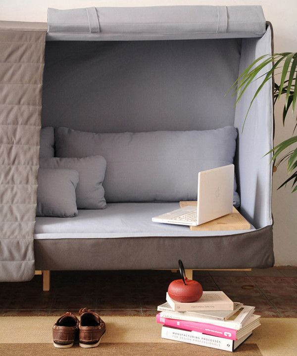 A cabin-like piece of furniture to help you create a bit of intimacy within