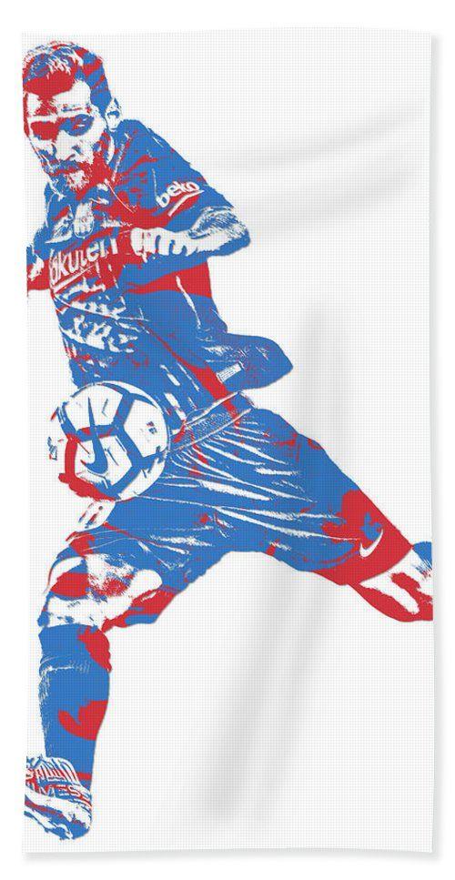8ca289f9836 Lionel Messi F C Barcelona Argentina Pixel Art 2 Bath Towel For Sale