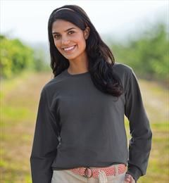 Fruit of The Loom - Fruit of the Loom 100% Cotton 5.6 oz. Long Sleeve T-Shirt - 49
