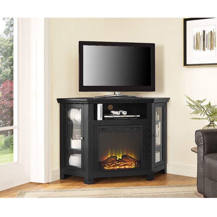 Fireplace Design fireplace stands : The 25+ best Corner fireplace tv stand ideas on Pinterest