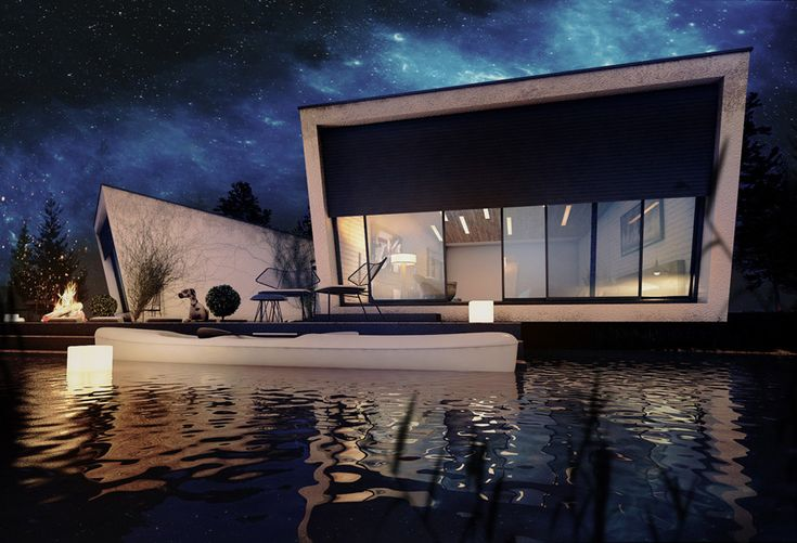 Lake House - 3d rendering and design by www.archvision.ro