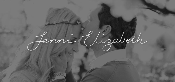 """http://www.newnormal.co.za/work/jenni-elizabeth-photography/ """"To keep her brand unique we decided on an illustrated logo which turned out to be a custom-created handwritten font (created from scratch by our very talented designer and illustrator, Magdel)."""""""