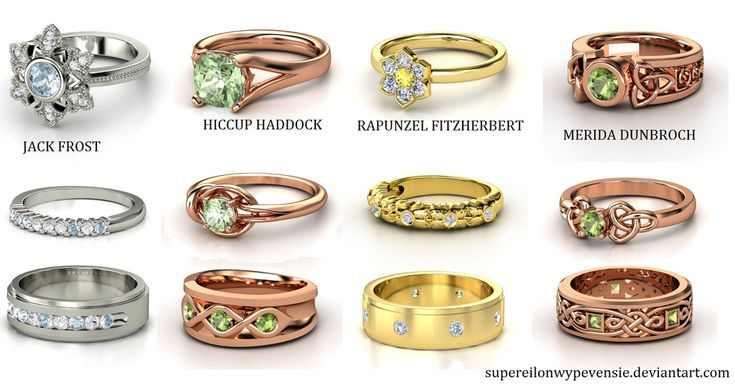 Rise of the Brave Tangled Dragons Wedding Rings by supereilonwypevensie on deviantART