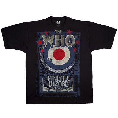 THE WHO Pinball Wizard Blk, Tシャツ - バンドTシャツ専門店。スラッシュメタル・デスメタル・ハードロック・ポップ系アーティスト・アメコミTシャツなどジャンルを問わず、海外のオフィシャルアイテムをお取り寄せする通信販売です。
