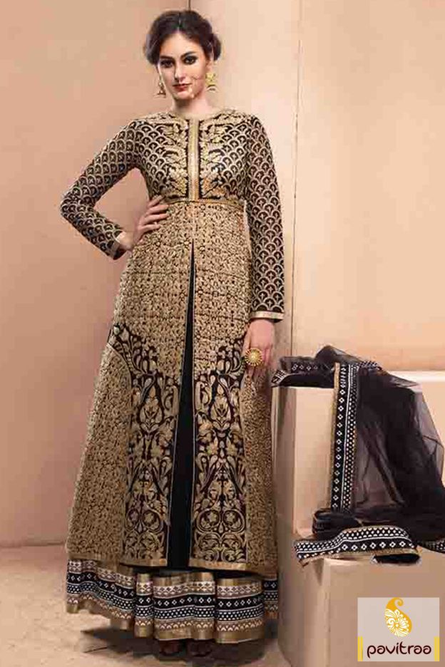 Create an ethnic aura by wearing this traditional black silk designer anarkali suit online with discount price. Purchase this suit with best discount offer. #salwarsuit, #salwarkameez, #anarkalisalwarsuit, #wholesalecatalog, #anarkalisuit, #longsalwarsuit, #partywearsuit, #anarkalisalwarkameez, #gown, #dresses, #festivalsalwarsuit, #pavitraa, #festivaloffer http://www.pavitraa.in/store/anarkali-salwar-suit/ Call Us : 917698234040
