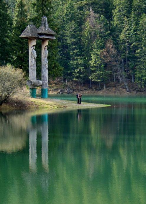 Lake Synevir Carpathian mountains, Ukraine
