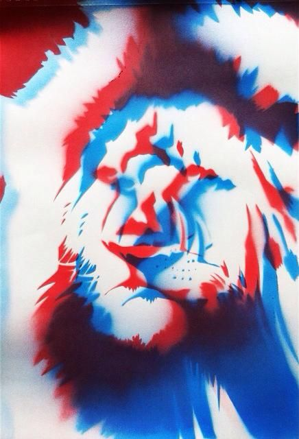 #art #arte #kunst #illustratie #illustration #graff #graffiti #graffitiart #sprayart #streetart #lion #leeuw #nature #natuur #3d #red #blue