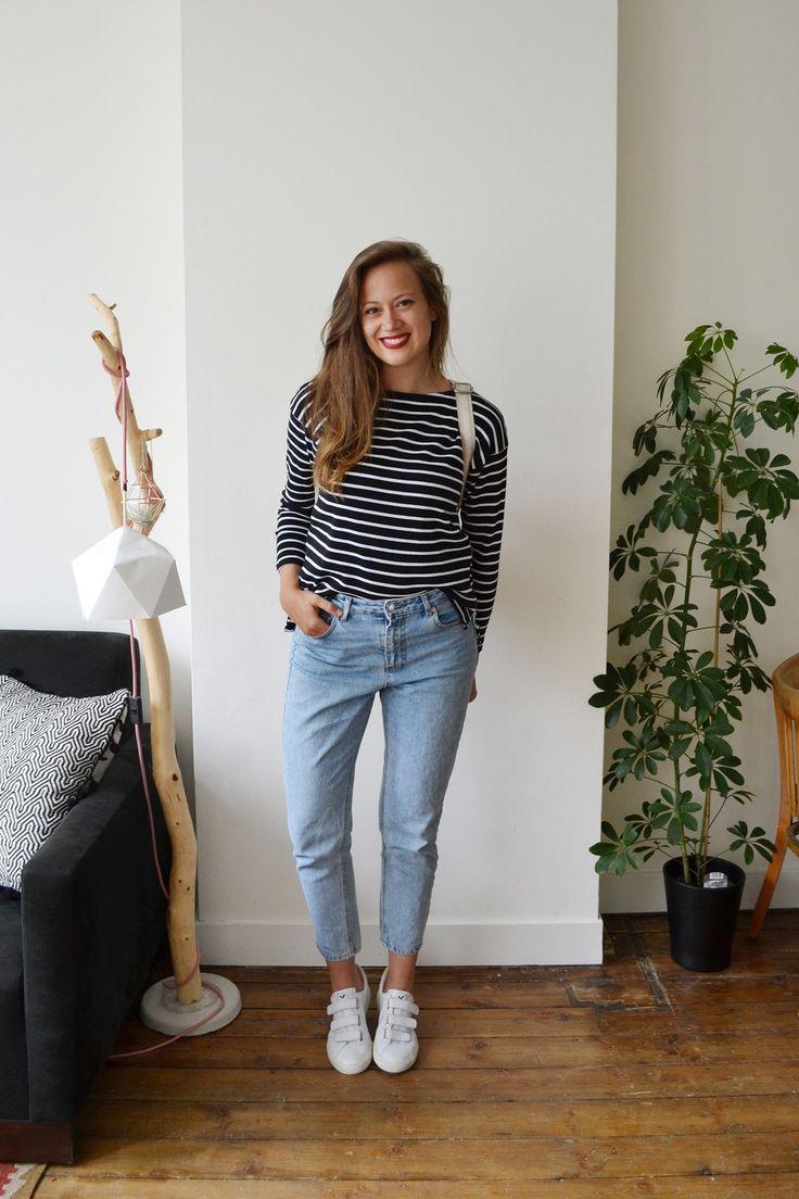 fair outfit / sustainable outfit / H&M Conscious / vintage jeans / Veja Esplar sneakers / Matt & Nat Fabi backpack