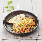 Een heerlijk recept: Warme quinoasalade met wortel en kipfilet