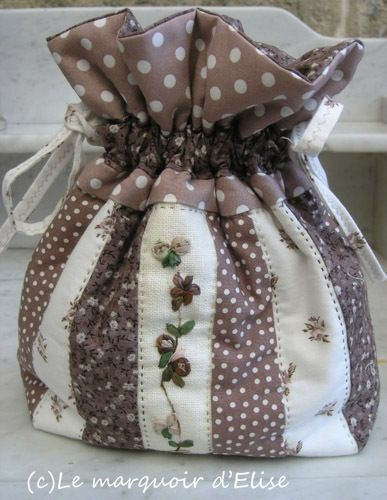 Hmmm...inspiring for drawstring...combo with stiching....beautiful colors