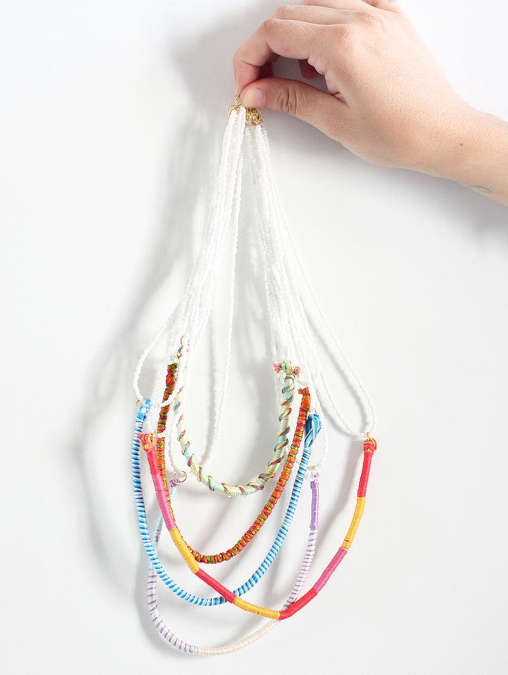 Embroidered & pearl necklace (with Loopdedoo)