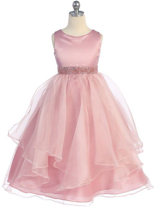 Beautiful organza dress with beaded waistband. http://www.justuniqueboutique.com/girls-formal-dresses/satin-and-organza-layered-flower-girl-dress.html #flowergirldress #girlsdress #dresses #toddlersdress #easterdress #ivorydress #justuniqueboutique