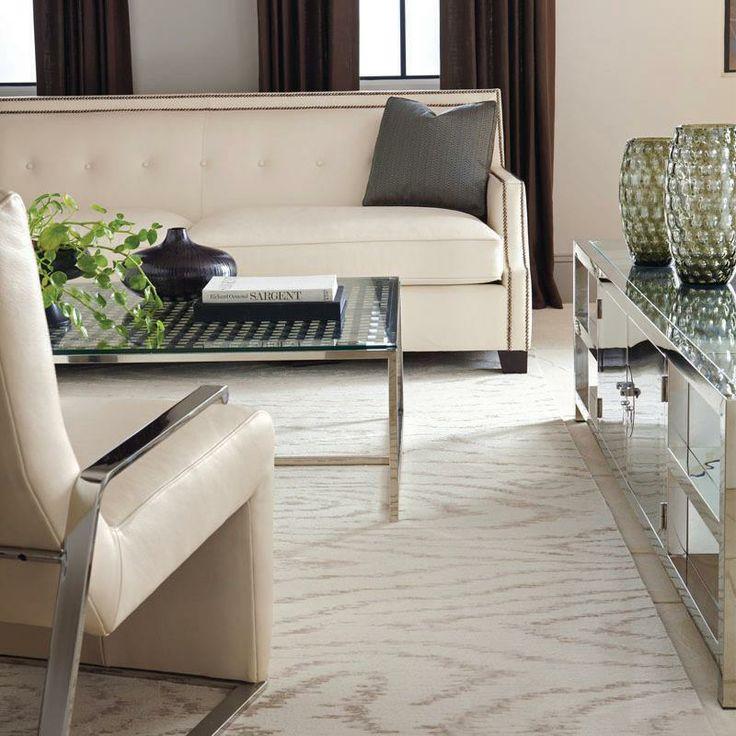 Franco Sofa | Sean Chair | Hanford Cocktail Table | Balboa Entertainment Console #design #GlenandJamie #furniture