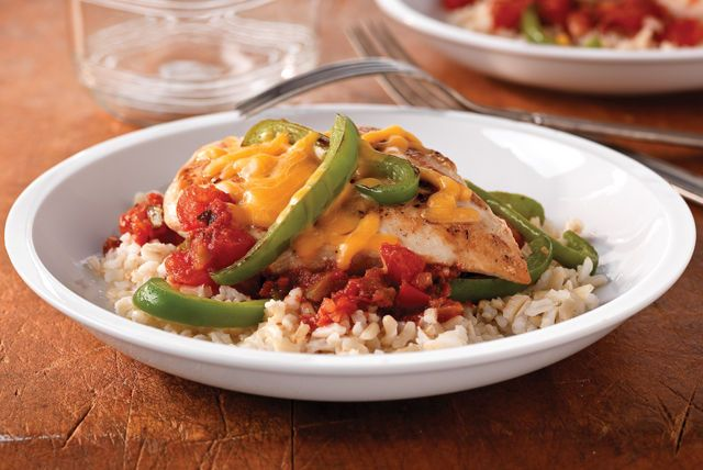 A quick-fix chicken meal that is picky-eater-proof and can fit into your healthy eating plan. Salsa adds a little kick, and zesty dressing brings the tang.
