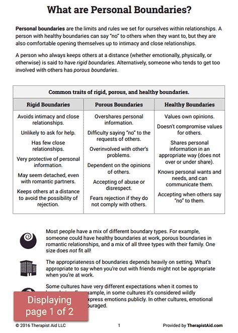 Image Result For Healthy Boundaries Worksheet Counseling