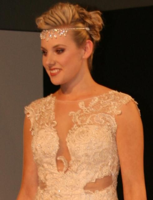 Bridal and Ball on the runway at the Grand Wedding Show Sky Tower September 28th 2014. Representing 3 of the different looks we cater for.  The bohemian bride