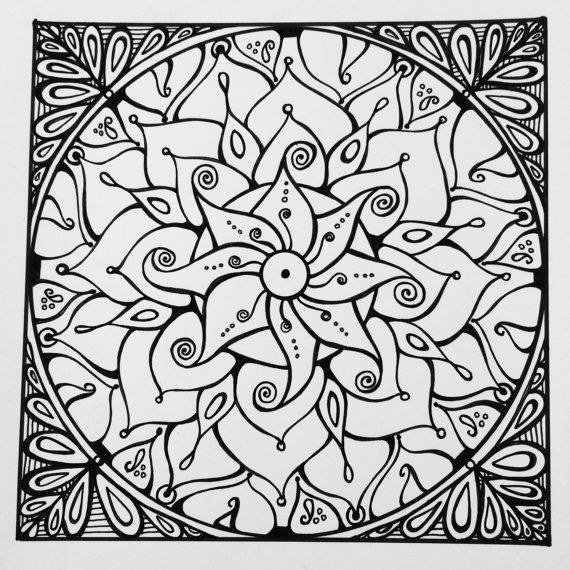 square mandala coloring pages - photo#21