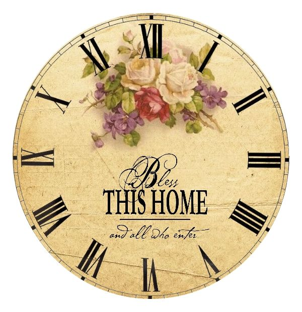 Bless this Home clock