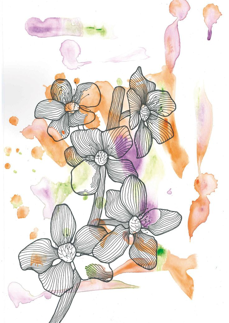 Ciruelo . . .. . .. .     Find me on #society6 #redbubble #lines #watercolor #acuarela #nature #graphic #design #art #flower