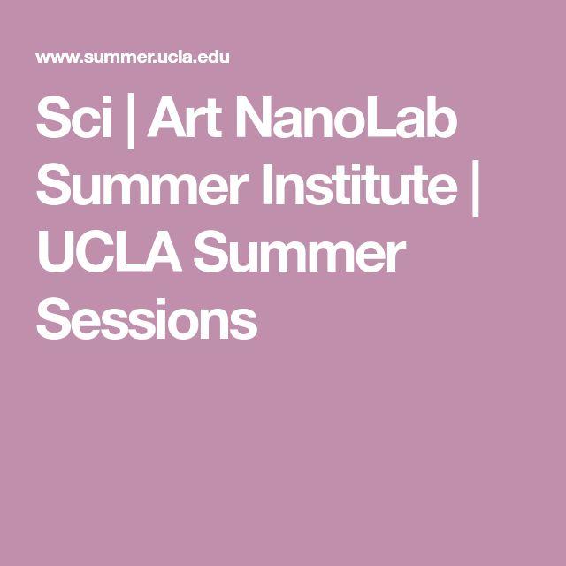 Sci | Art NanoLab Summer Institute | UCLA Summer Sessions