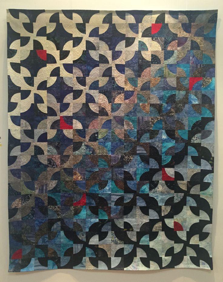 RDS Student Art Awards, Mary Palmer, Des Pas Sur La Neige, Embellished Textiles,  Irish Patchwork Society Award
