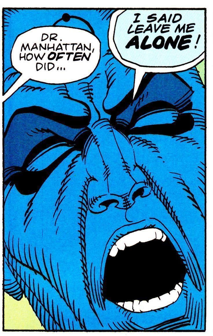 "comicbookvault: "" WATCHMEN #4 (Dec. 1986) Art by Dave Gibbons & John Higgins Words by Alan Moore "" Vertigo - DC Comics - Doctor Manhattan"