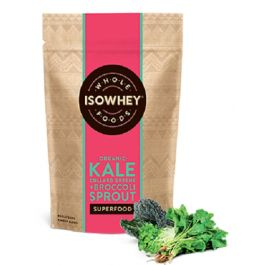 Isowhey Wholefoods Organic Kale, Collard Greens + Broccoli Sprout is a nutritious blend powder.  Isowhey Wholefoods Kale, Collard Greens + Broccoli Sprout Powder gives added goodness to your diet.