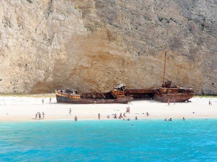 stunning.  Navagio Beach -  Zante Greece