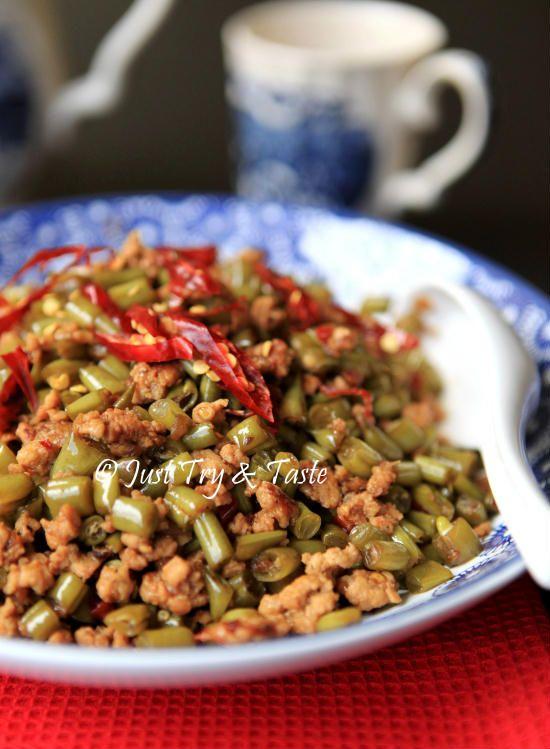 Tumis Acar Buncis dengan Ayam Cincang a la Szechuan