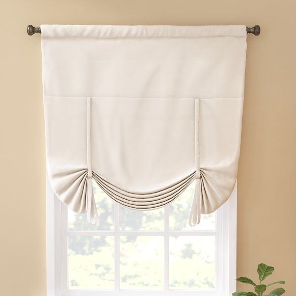 Give An Open Window An Update That Won T Break The Bank With This Budget Friendly Tie Up Shade Made From 100 Polyester Curtains Tie Up Shades Cool Curtains