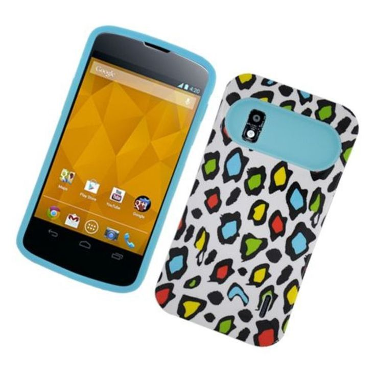Insten Colorful/ Leopard Night Glow Hard PC/ Silicone Jelly Case Cover For LG Google Nexus 4 #2325095