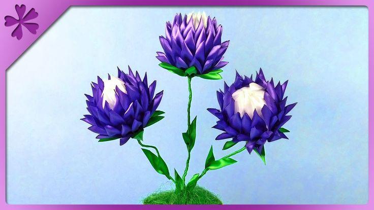 DIY Kwiaty kanzashi w doniczce - Na szybko #304