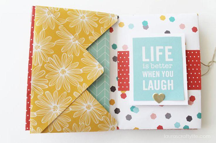 Envelope Mini Album - Life is Better When you Laugh @tatertotsjello @wermemorykeepers
