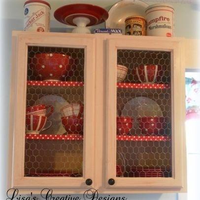 Country Kitchen Cabinet Design 29 best chicken wire cabinet doors images on pinterest | chicken