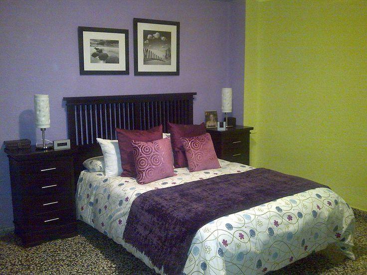 Decoracion En Gris Y Morado ~   decorar en morado cuartos en morado decoracion de casas dormitorios