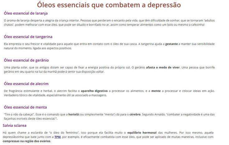 Óleos essenciais que combatem a depressão                                                                                                                                                                                 Mais