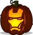 Pumpkin Carving Patterns and Stencils - Zombie Pumpkins! - Iron Man pumpkin pattern - The Avengers (2012)