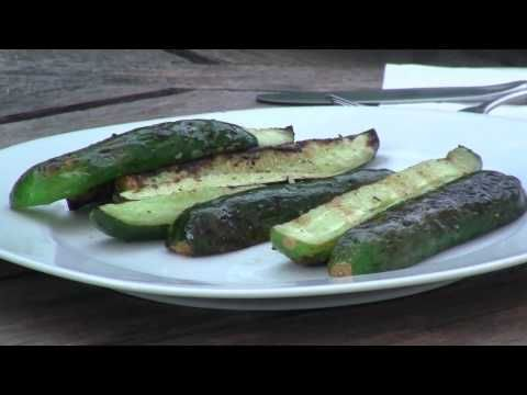 The fine chefs at BBQ Dragon have a delicious and unique charcoal grilling recipe for you today: Grilled Cucumbers. This is a really great vegetable to barbecue, tangy and richly smoke flavored. Super healthy grilling at its best. Perfect for a barbeque side dish, or for your vegetarian guests.    Websites:  ExoticBBQ.com  BBQFresh.com    Twitter:  @BB...