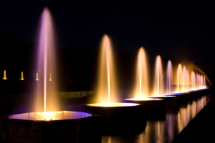 Illuminated Fountain Show In The Main Fountain Garden At Longwood Gardens It 39 S Lovely To See The