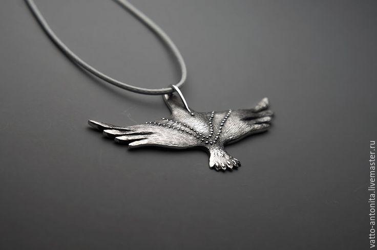 Купить Птица Ночи кулон со звездами и луной в виде ворона - кулон птица