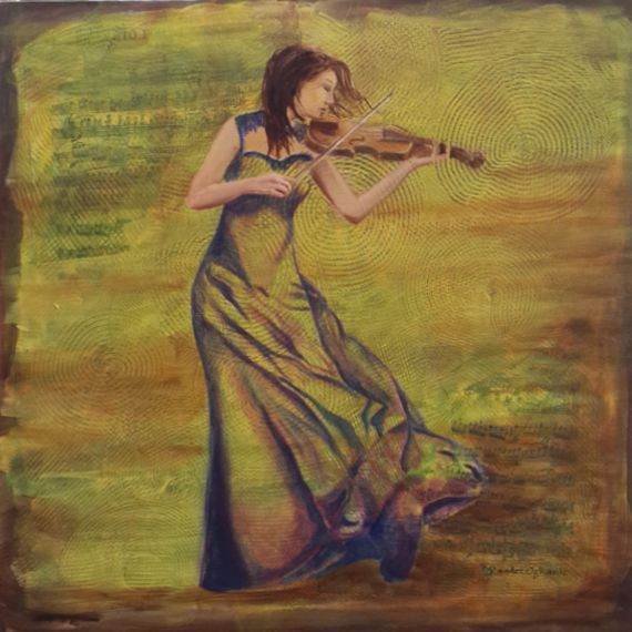 Original oil painting on canvas 196x196 by ArtGalleryofSaadet