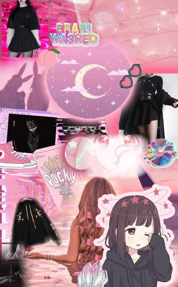 Aesthetic Pink Edit Cute Moodboard Aesthetic Wallpapers