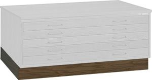 "Mayline Wood Plan File Flush Base for 36"" x 48"" Document Drawer Unit 7719W"