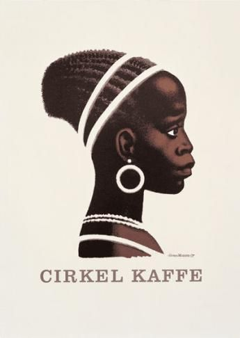 Nostalgic Danish poster from the 1960's - Cirkel Kaffe (Circle Coffee)