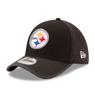Men's New Era Black Pittsburgh Steelers 2017 Training Camp Official 39THIRTY Flex Hat