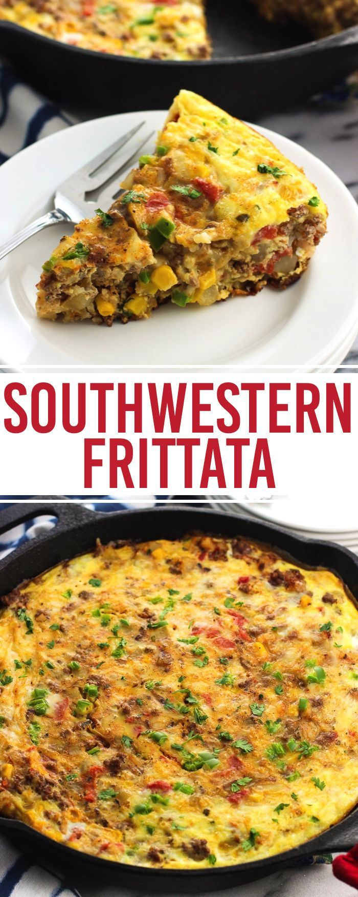 awesome This southwestern frittata recipe is loaded with potato, beef, rice, cheese, veg...by http://dezdemooncooking.gdn