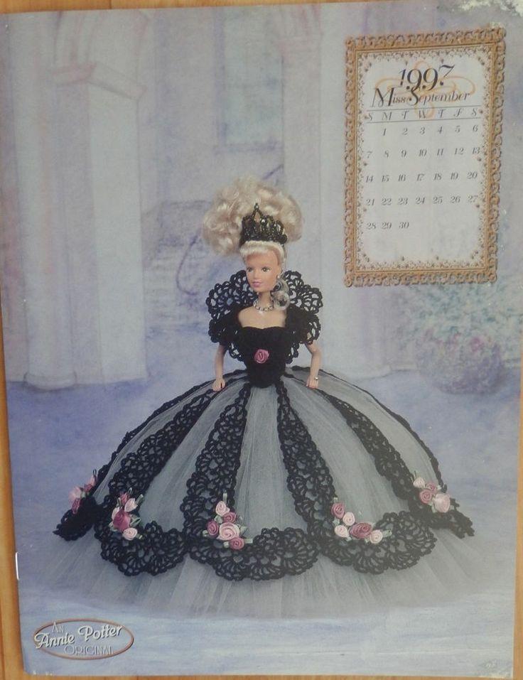 Annies Attic Fashion Bed Doll Crochet Pattern Royal