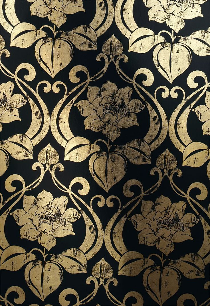 metal wallpaper with art nouveau pattern 1766-15 ---  embroidery outline?---