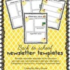 Start your school year off on a good note! Keep parents informed with weekly newsletters. These templates will help you keep your information organ...