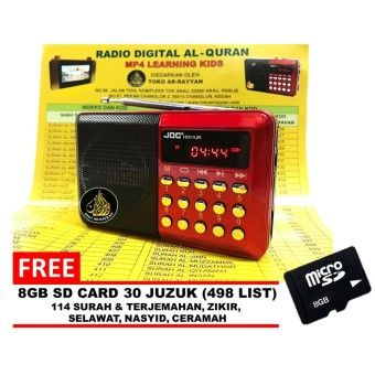 Special Price Radio With Al Quran 30 Juzuk JOC Rechargeable USB and microSD 8gb Slot Mini Digital MP3 Player FMOrder in good conditions Radio With Al Quran 30 Juzuk JOC Rechargeable USB and microSD 8gb Slot Mini Digital MP3 Player FM ADD TO CART TO054ELAAAW2XLANMY-23065326 TV, Audio / Video, Gaming & Wearables Audio Portable Players TOKO AR-RAYYAN Radio With Al Quran 30 Juzuk JOC Rechargeable USB and microSD 8gb Slot Mini Digital MP3 Player FM